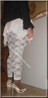 robe blanche collants dentelle 40