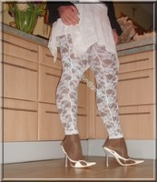 robe blanche collants dentelle