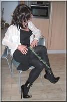 robe noir frou frou visage 62