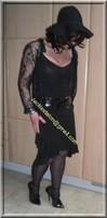 robe noir decolete 120