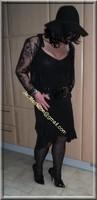 robe noir decolete 121