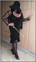 robe noir decolete 129