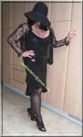 robe noir decolete