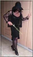 robe noir decolete 128