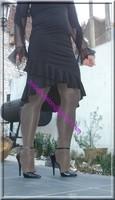 robe noir frou frou 1