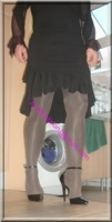 robe noir frou frou
