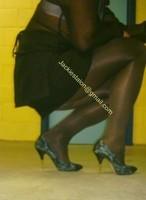 minijupe noir chemise noir 3
