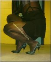 minijupe noir chemise noir 5