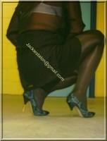 minijupe noir chemise noir 7