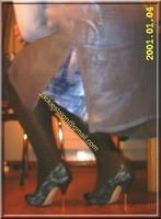 robe en soie bleu 1