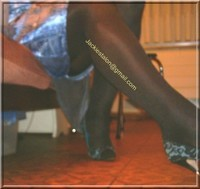 robe en soie bleu 3