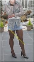minijupe jeans chemise transparente 1