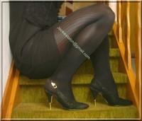 robe noir avec brosderie 1