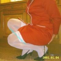 robe rouge bas blanc 5