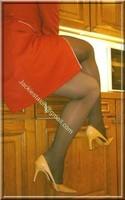 robe rouge bas noir 3
