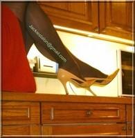robe rouge bas noir 5