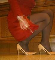 robe rouge bas noir
