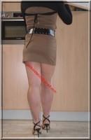 sandales noir robe marron clair 14