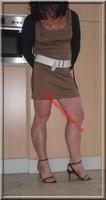 sandales noir robe marron clair 23