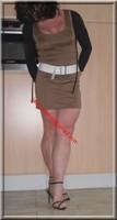 sandales noir robe marron clair 22