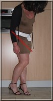 sandales noir robe marron clair 33
