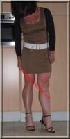 sandales noir robe marron clair 26