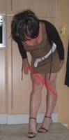 sandales noir robe marron clair 35