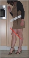 sandales noir robe marron clair 28