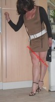 sandales noir robe marron clair 38
