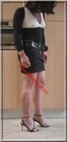 robe noir et blanche sandales noir 4