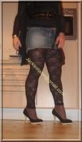Minijupe jeans top noir 12