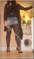 Minijupe jeans top noir 24