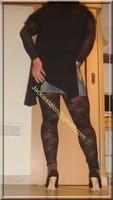 Minijupe jeans top noir 44
