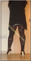 Minijupe jeans top noir 42