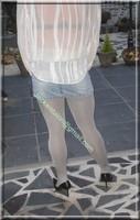 minijupe jeans chemise blanche 4