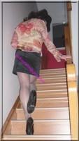 jupe courte noir velours blouse couleurs 83