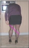 jupe courte noir top noir 4
