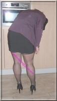 jupe courte noir top noir 3