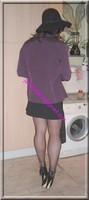 jupe courte noir top noir 13