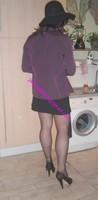 jupe courte noir top noir 14