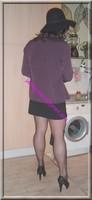 jupe courte noir top noir 12