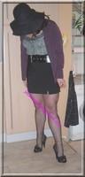jupe courte noir top noir 20