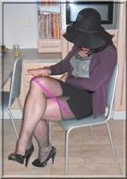 jupe courte noir top noir 23