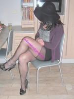 jupe courte noir top noir 25