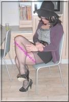 jupe courte noir top noir 31 visage