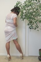 longue robe blanche Etam 41