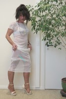 longue robe blanche Etam 40