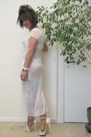 longue robe blanche Etam 44