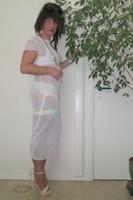longue robe blanche Etam