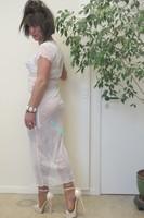 longue robe blanche Etam 45